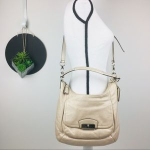 Coach Kristin Hobo in Champagne Gold Leather